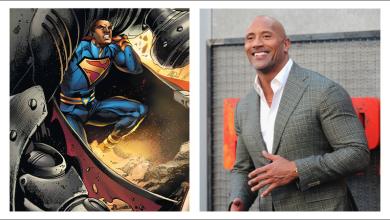 Dwayne Johnson como superman