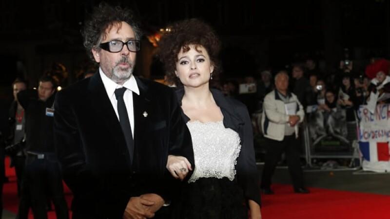 La pareja de la industria cinematográfica durante el estreno de Frankenweenie 3D en Londres, en octubre de 2012