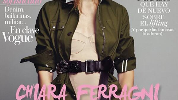 Chiara Ferragni, es la primera bloggera en aparecer en una portada de Vogue. Aquí, en la portada de Vogue España, fue fotografiada por Nico Bustos.