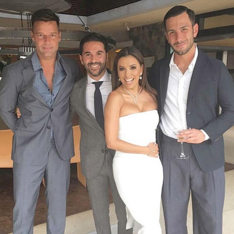 A su boda asistieron famosos como Ricky Martin y David y Victoria Beckham.