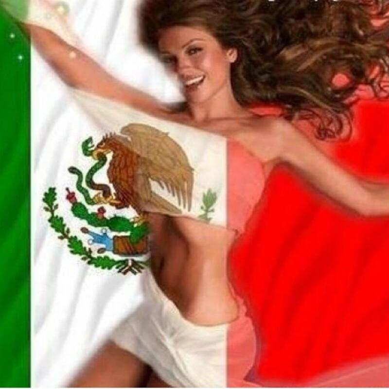 La cantante demostró que no se olvida de su país y desde que comenzaron los partidos en Brasil se ha unido para apoyar a la selección mexicana.