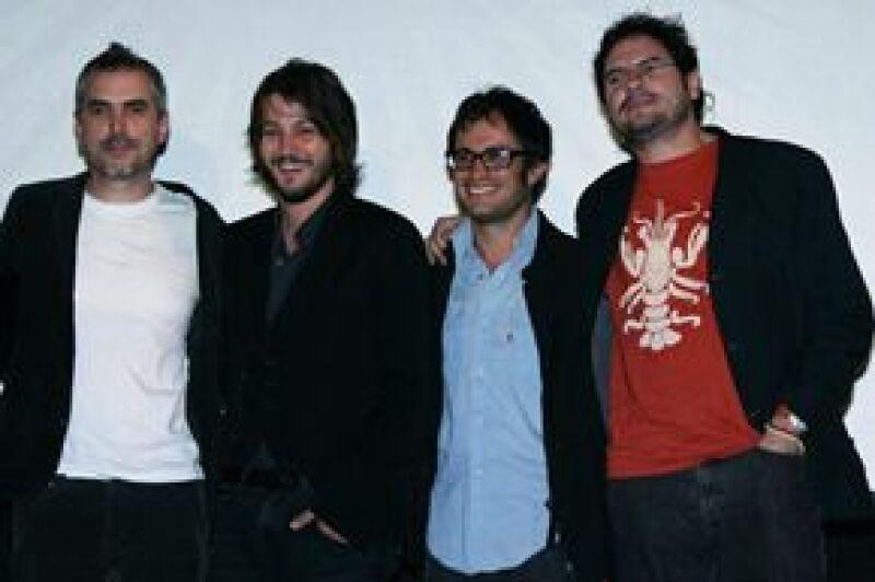 Durante la conferencia realizada en el Festival Internacional de Cine de Morelia, estuvieron presentes Gael, quien la hace del cursi y Diego, el rudo.