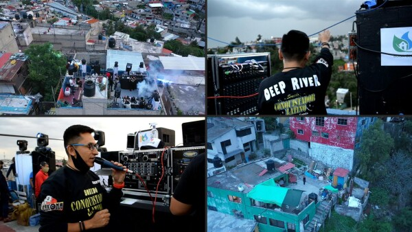 Fiesta en la azotea para olvidarse del coronavirus en México