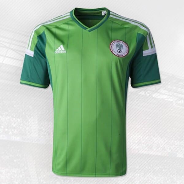 Las Águilas africanas usarán esta playera diseñada por Adidas, firma que tiene 40 años en el negocio del futbol