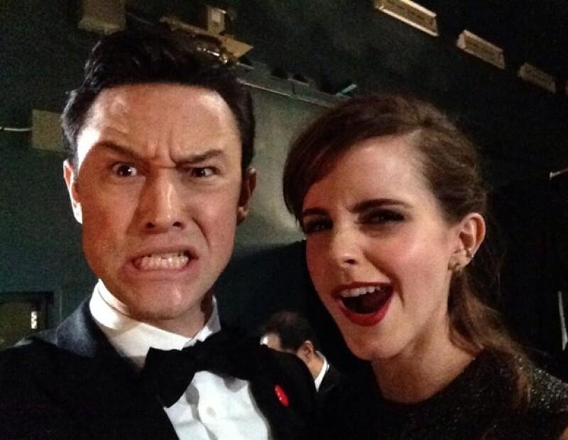 Joseph Gordon-Levitt y Emma Watson.