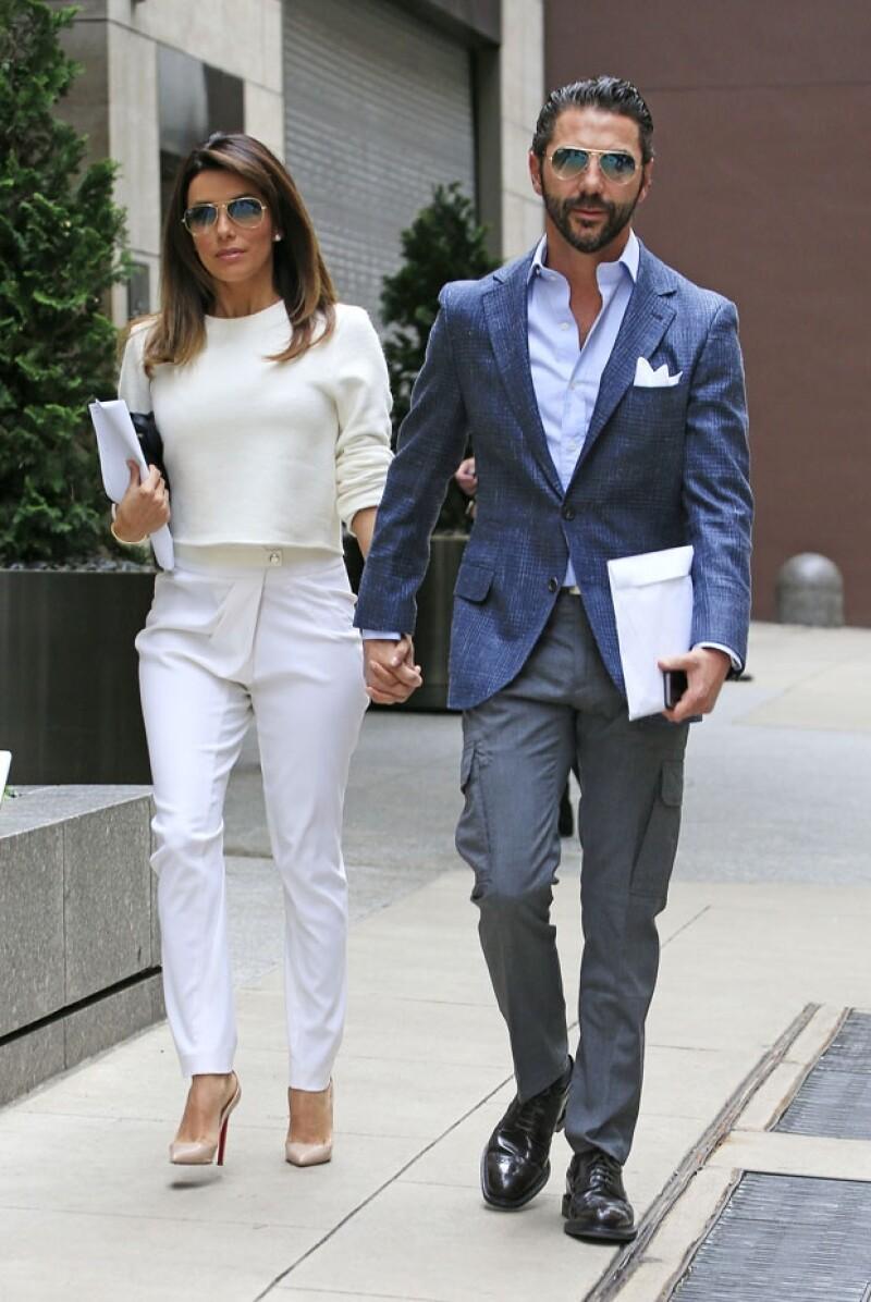 La pareja fue captada cuando salía de su hotel en Nueva York.