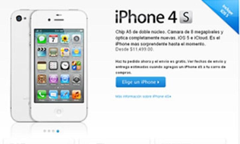 Iusacell, Telcel y Movistar ofrecerán planes para activar el teléfono inteligente, que llegará el 28 de octubre. (Foto: Especial)