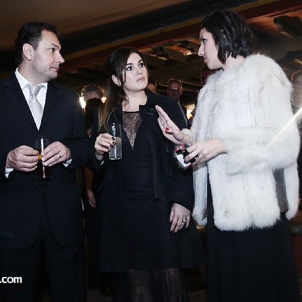 Luis Leal, Mónica García y Cristina Pedrero