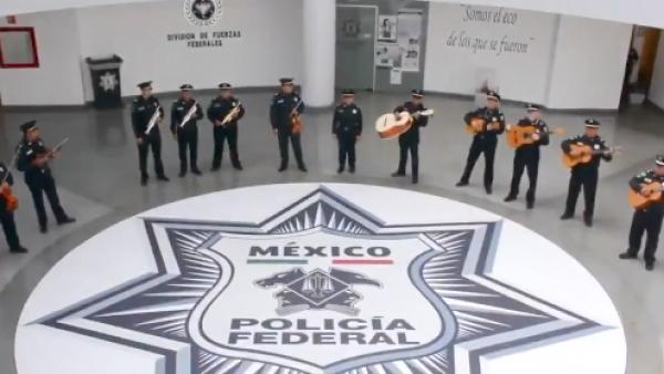 Así es como se oye el Mariachi de la Policía Federal
