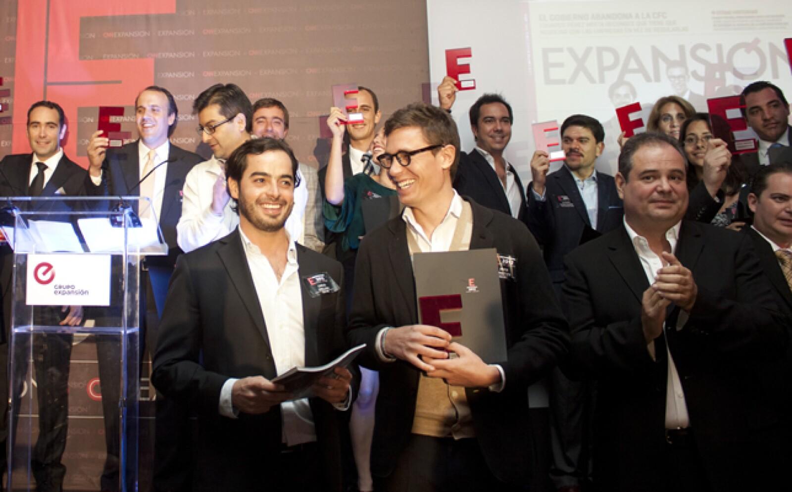 salaUno, dirigido por Carlos Orellana y Javier Okhuysen, se llevaron la distinción de Emprendedores 2012 en la categoría Alto Potencial.