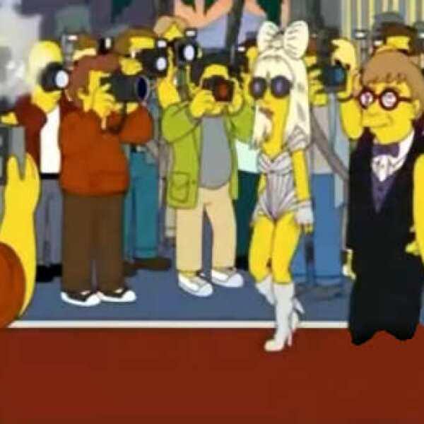Lady Gaga ya había aparecido en Los Simpson al lado de Elton John, pero regresa para estar con la familia amarilla.