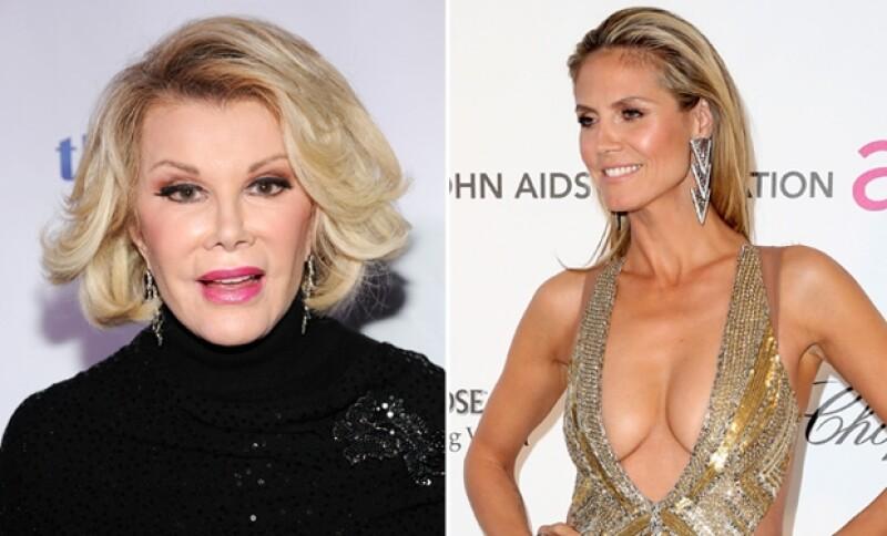 Criticó a la supermodelo alemana Heidi Klum con un comentario ofensivo sobre el holocausto, por el escotado vestido que llevó al after party de los Oscar.