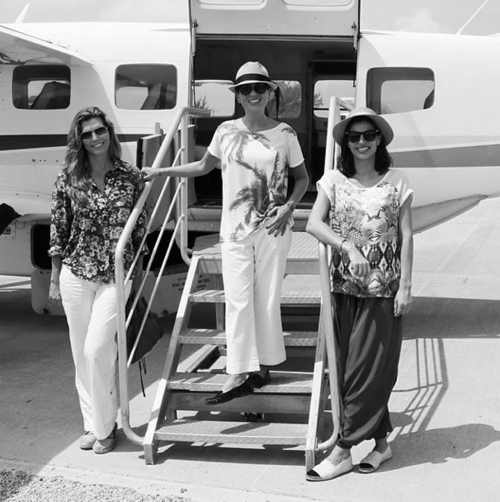 Montserrat Oliver, Yolanda Andrade y Bárba Coppel en una foto muy elegante.