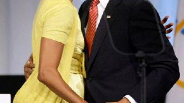 Como es habitual, la pareja presidencial se mostró muy cariñosa.