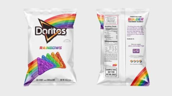 Envoltura de la edición limitada del producto de Doritos para apoyar a la comunidad LGBT en EU (Foto: Pepsi Company)