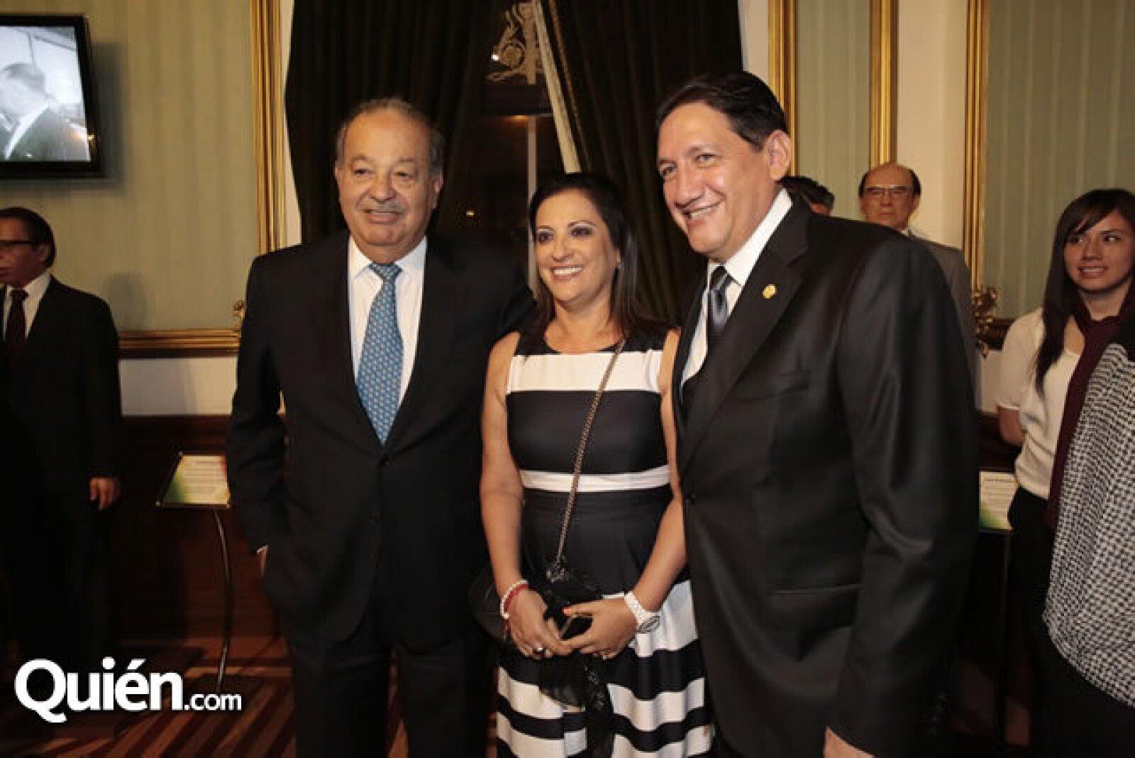 Carlos Slim,María Eugenia Bermúdez de Montano,Alejandro Montano