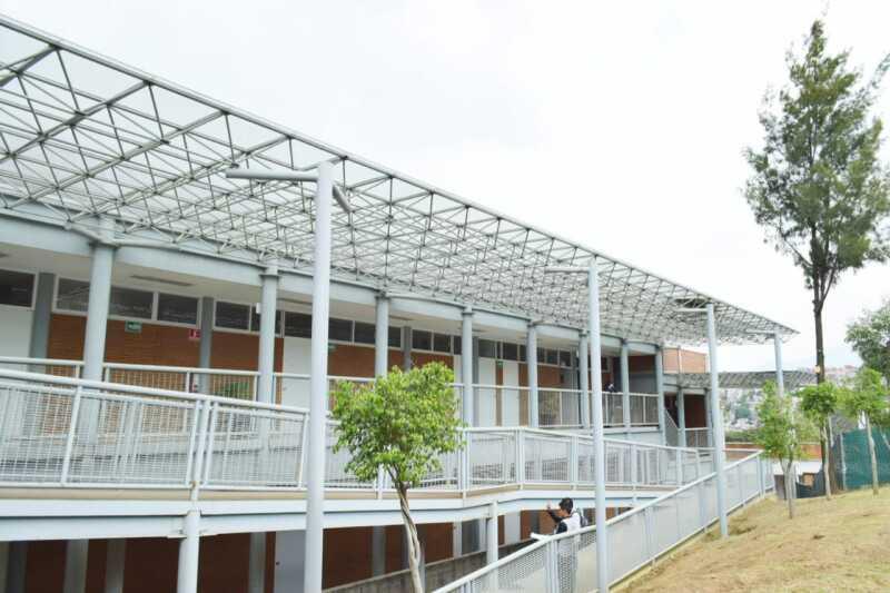 Para la recuperación del campus universitario en Magdalena Contreras, cuya obra fue abandonada en 2015, se tendrá un presupuesto de 90 millones de pesos. Foto: Gobierno CDMX