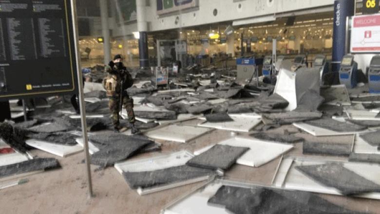 Así quedó el aeropuerto de Zaventem tras las explosiones. (Twitter)