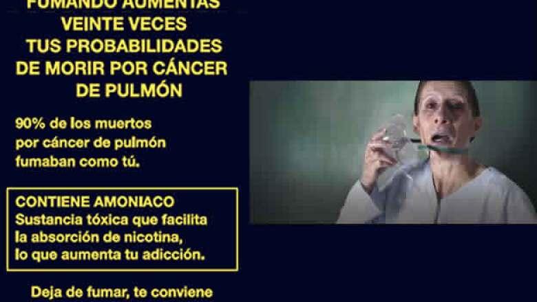 Se presentarán imágenes haciendo alusión a distintos problemas que puede causar el fumar.