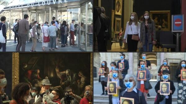 El Louvre de París reabre sus puertas sin extranjeros