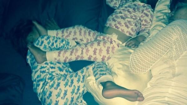 Con su tercer embarazo, la pareja de Scott Disick tiene que tener mucho descanso y qué mejor que sus pequeños la acompañen, todo capturado para Instagram.