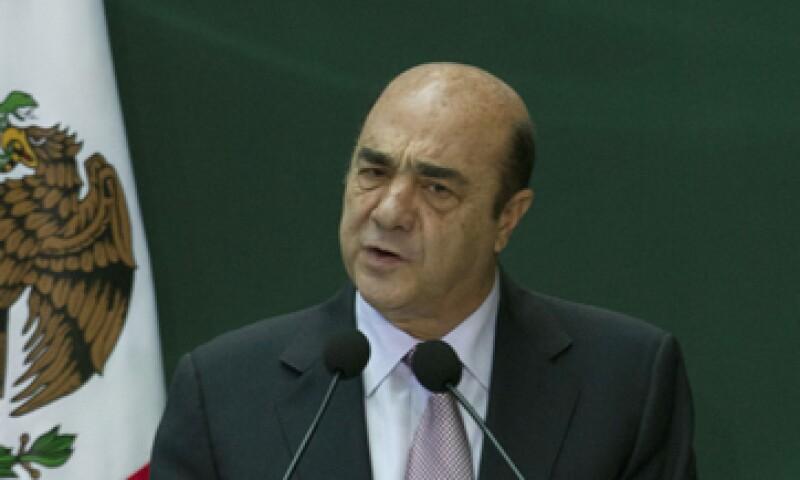 El procurador Jesús Murillo Karam comparece ante el Senado por caso Oceanografía. (Foto: Notimex)
