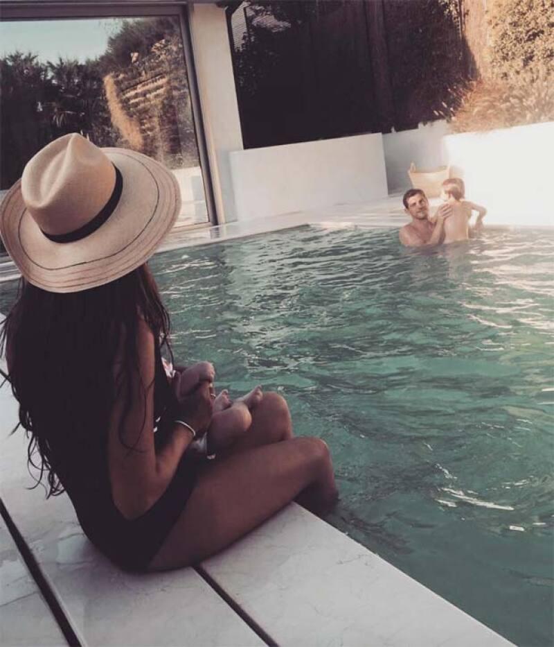 Esta fue la primera fotografía de los 4 juntos durante sus vacaciones en Madrid.