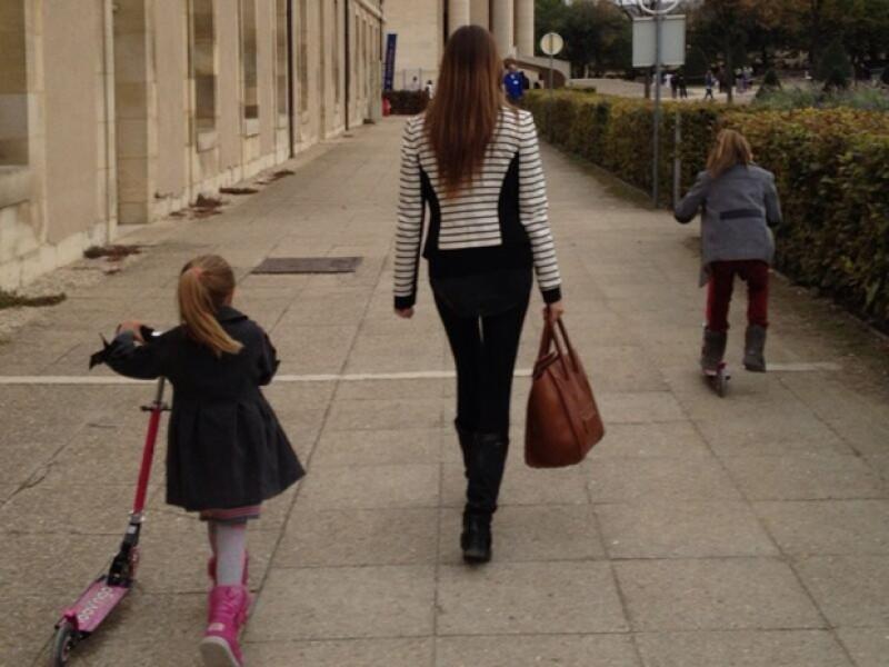 Oli confesó que aprovechó para volver a descubrir París junto a sus hijas.