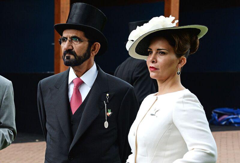 Jeque Mohamed bin Rashind y la princesa Haya de Jordania