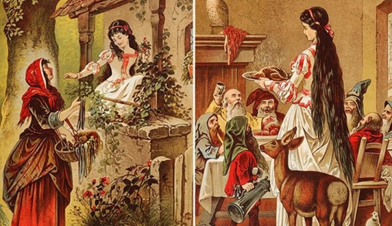 Dibujos de Carl Offterdinger sobre Blancanieves.