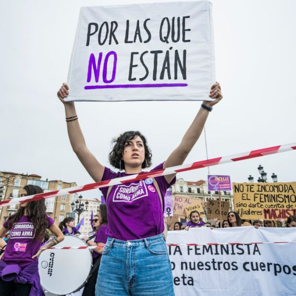 International Women's Day Demostration In Santander