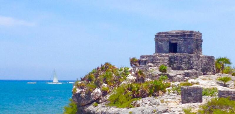 Las ruinas arqueológicas en Tulum