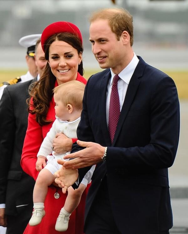 Duques de Cambridge a su llegada a Nueva Zelanda.