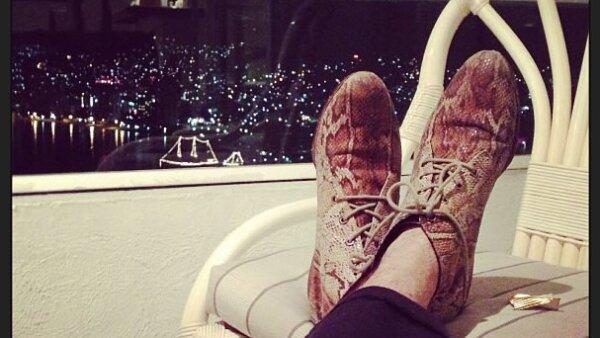 Desde noviembre de 2012, el actor ha compartido con sus más de 200 followers fotos de sus zapatos.