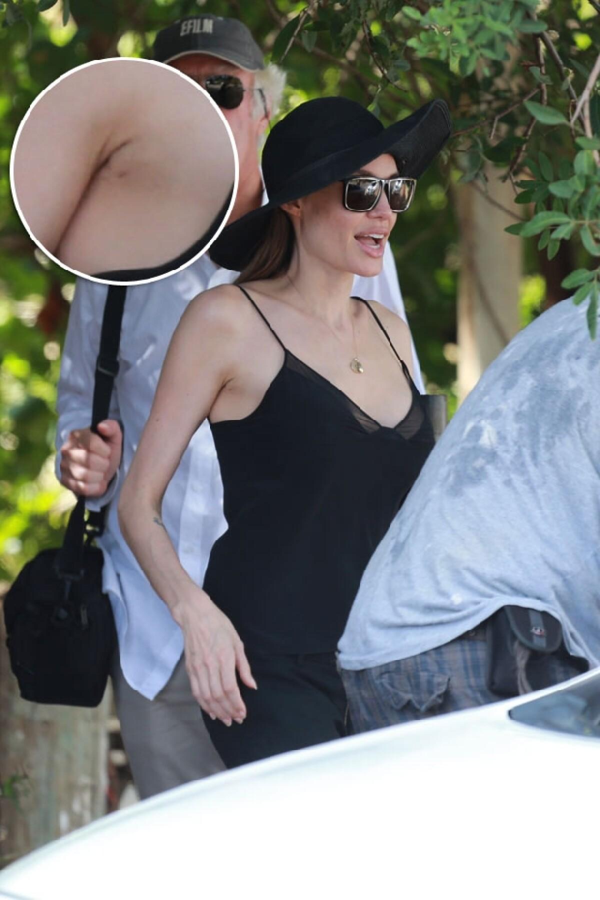 Angelina Jolie vuelve a lucir escote tras mastectomía