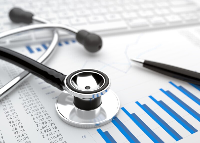 Stethoscope with financial statement