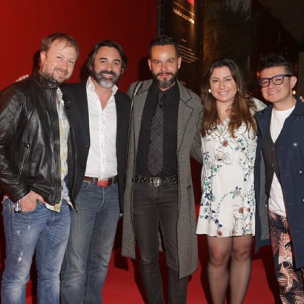 Santiago Misoya, Eduardo García, Jorge Medina, Elizabeth Gómez y Rulo del Alto
