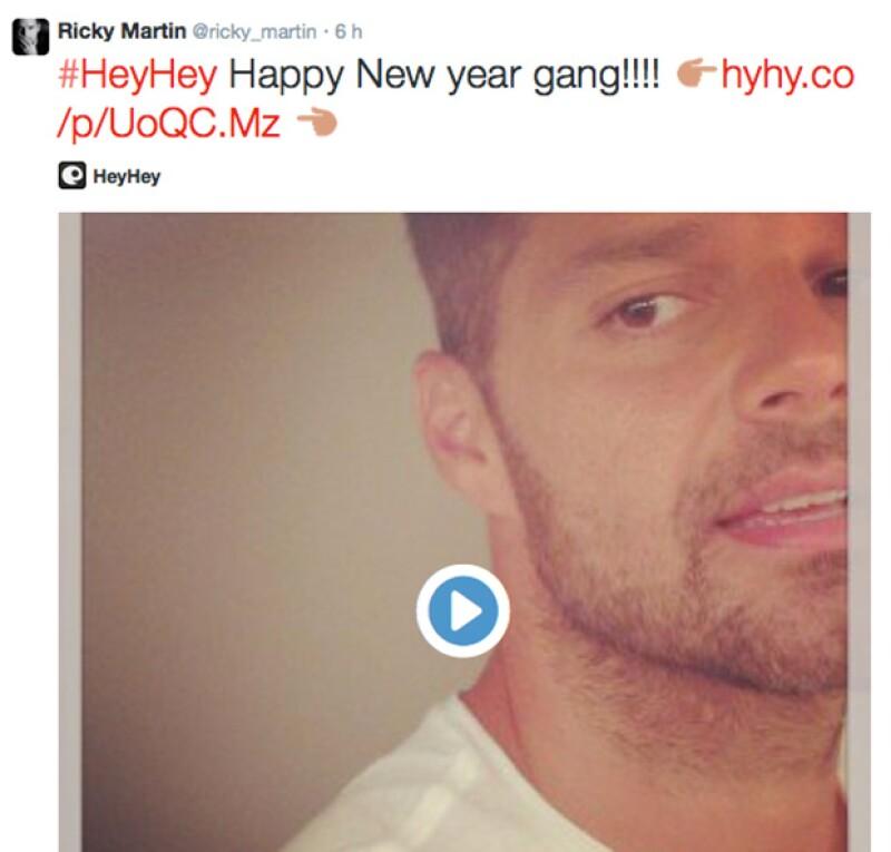 Ricky Martin hasta les dejó un mensaje personalizado a sus fans en su cuenta de Twitter.
