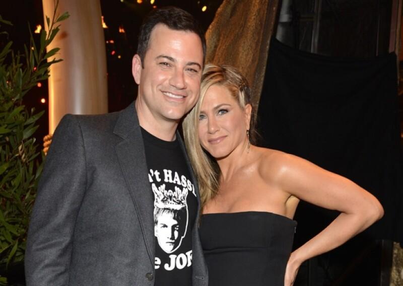 Jimmy Kimmel y Jenn Aniston suelen salir juntos de vacaciones con sus respectivas parejas.