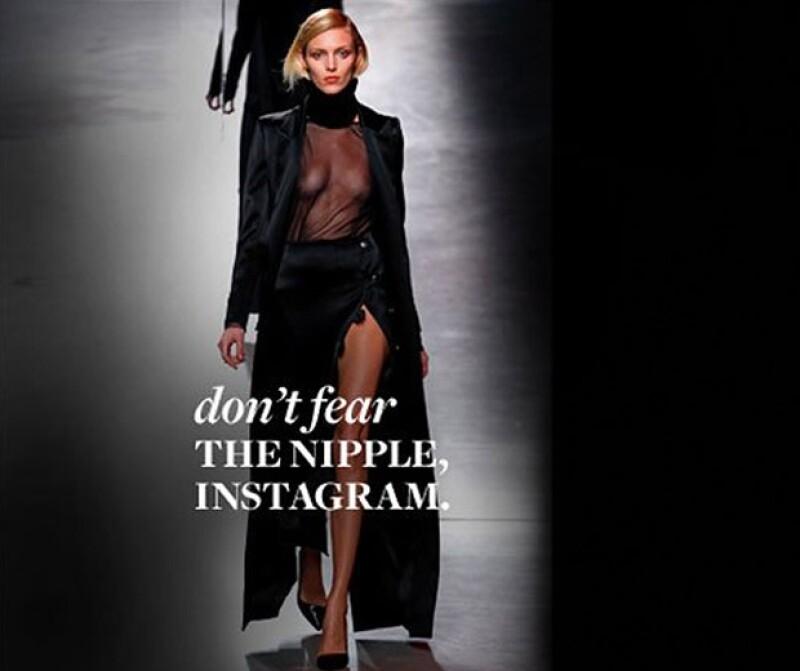 La modelo compartió esta foto y la quitaron por enseñar de más.