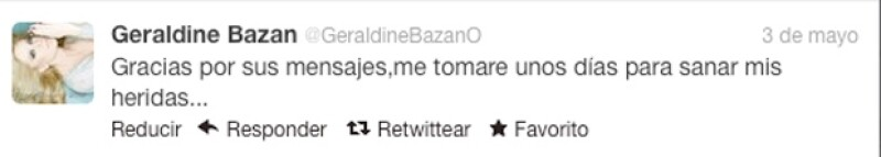 A través de Twitter la actriz expresó su agradecimiento por las muestras de apoyo en este difícil momento que atraviesa por la separación con el actor Gabriel Soto.