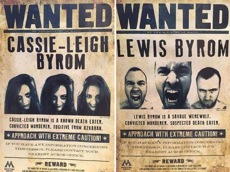 Incluso en las paredes habían carteles de Los Más Buscados con sus caras.