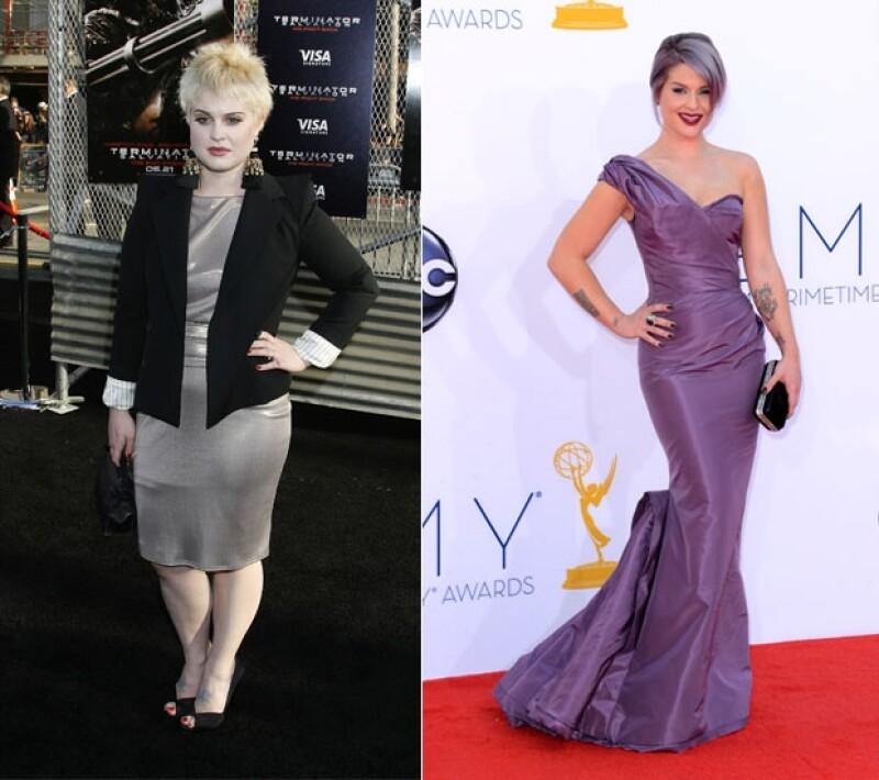 A pesar de que bajó casi 30 kilos y se ve realmente cambiada, Kelly Osbourne aún recibe críticas sobre su `sobrepeso´.