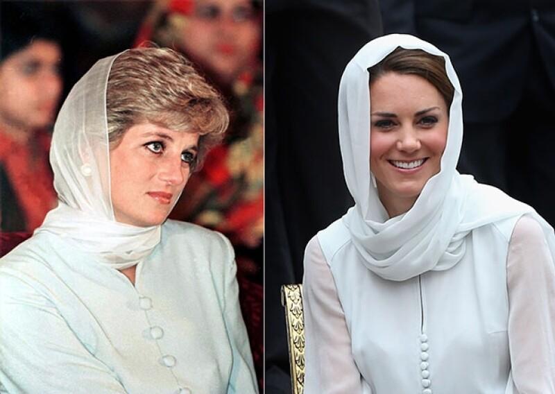 El buen estilo de Kate al vestir tiene una influencia, sin duda la de Lady Di a quien admira y sigue sus pasos.