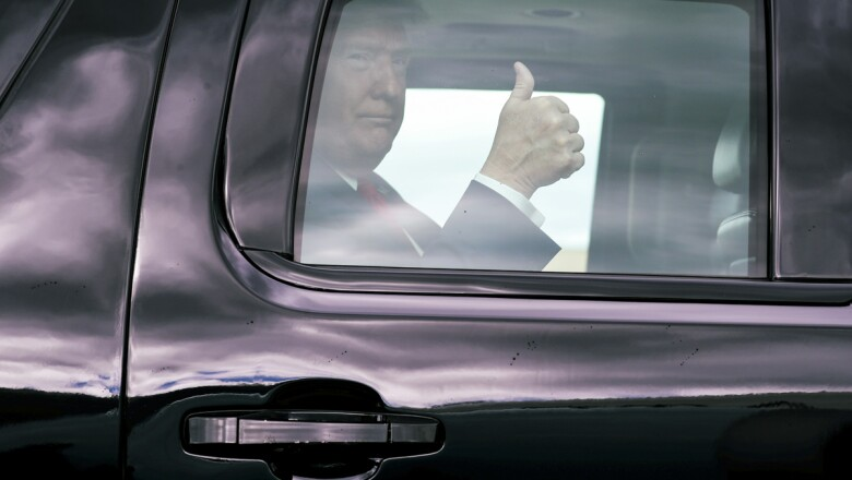 U.S. President Trump departs for travel to Texas from Joint Base Andrews in Maryland