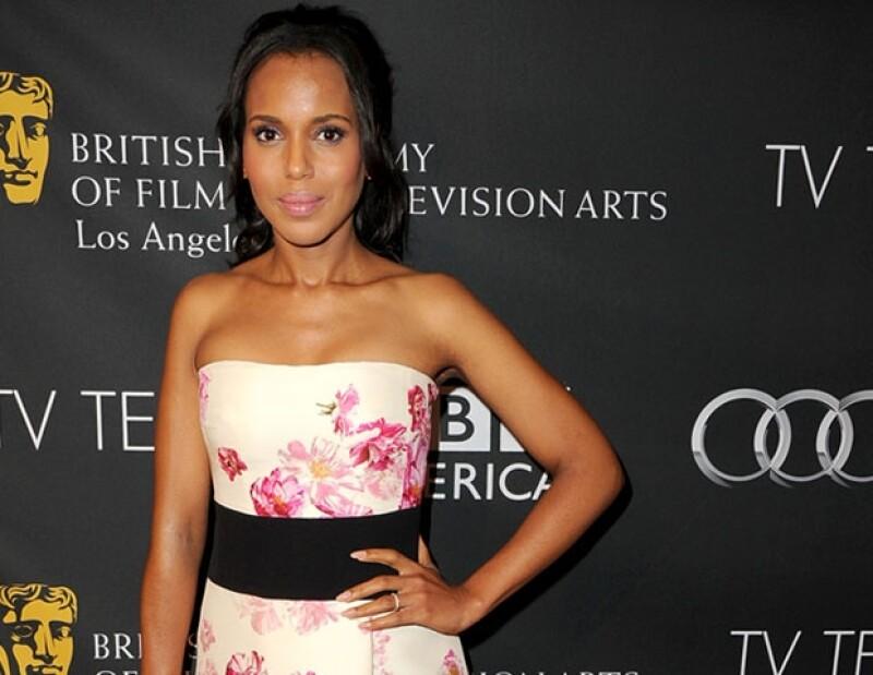 Kerry Washington podría convertirse en la primera afroestadounidense ganadora a mejor actriz de drama.