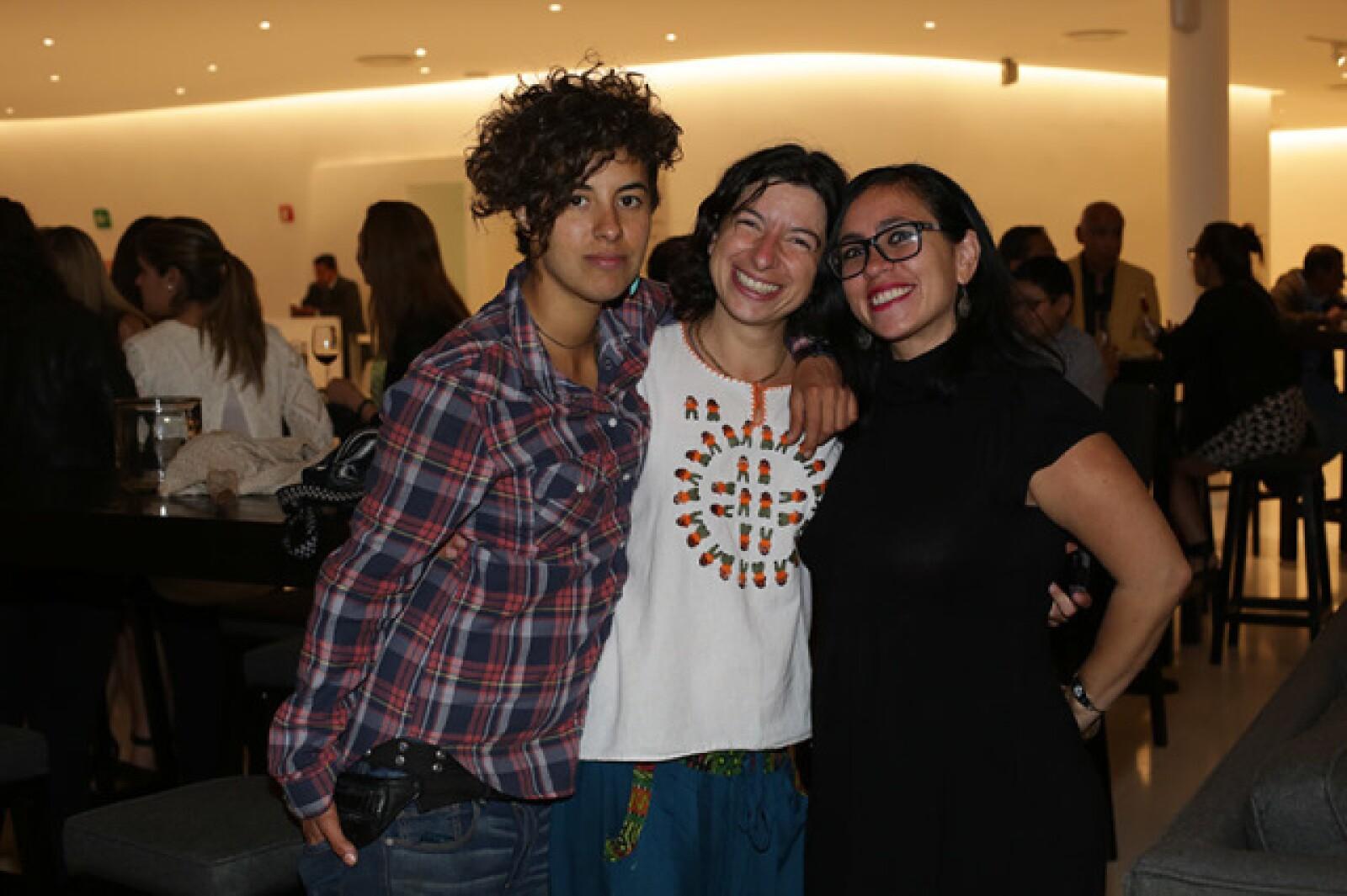 Viviana López,Andrea Ruíz y Tatiana Guzmán