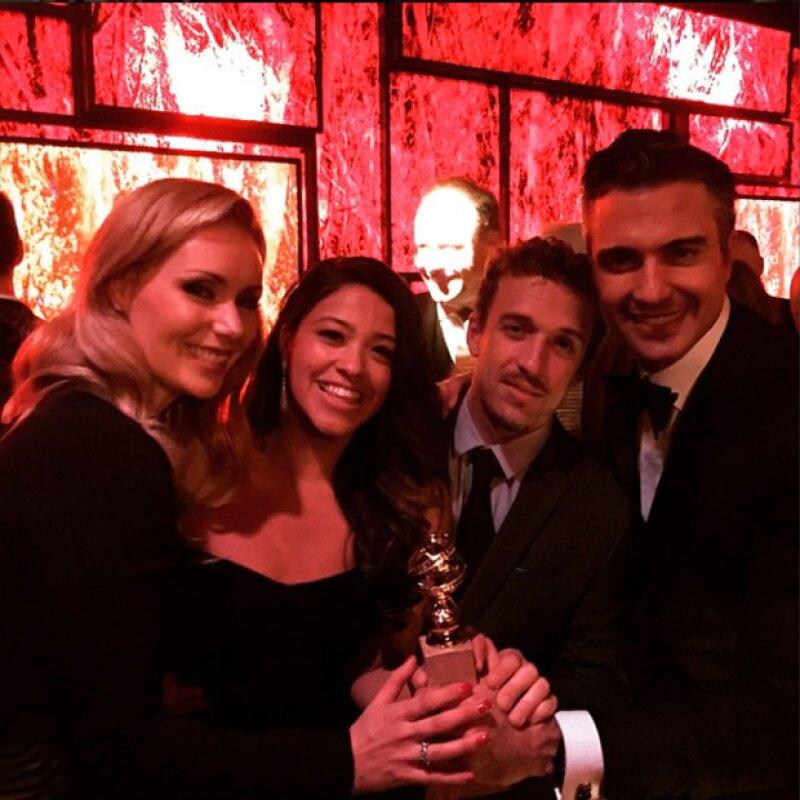 Celebrando el Golden Globe de Gina Rodriguez.