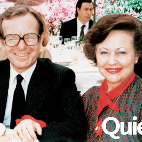 Con su querida esposa Sarita con quien estuvo casado 61 años.