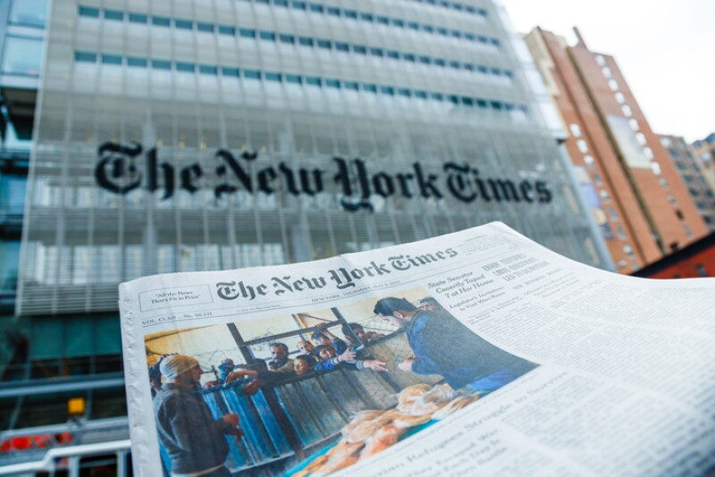 The New York Times newspaper and office building, Manhattan, NYC